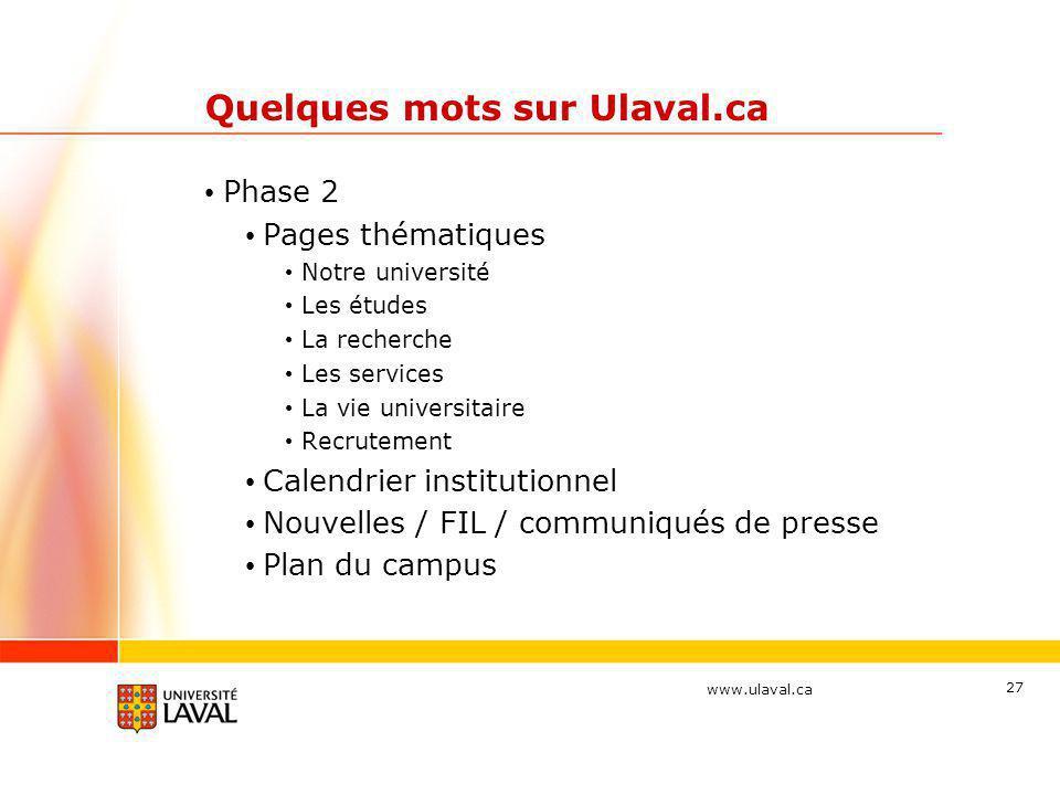 Quelques mots sur Ulaval.ca