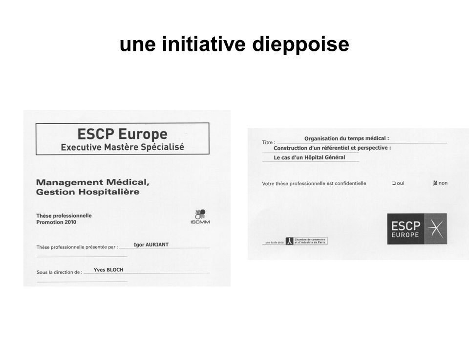 une initiative dieppoise