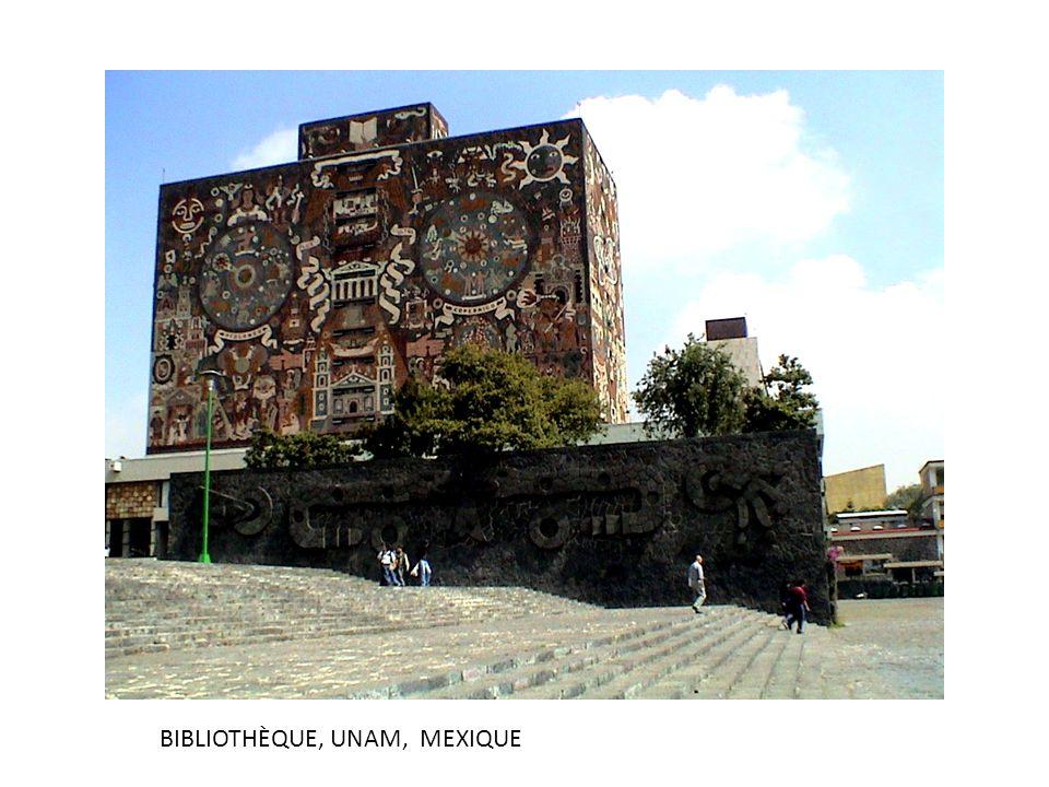 BIBLIOTHÈQUE, UNAM, MEXIQUE