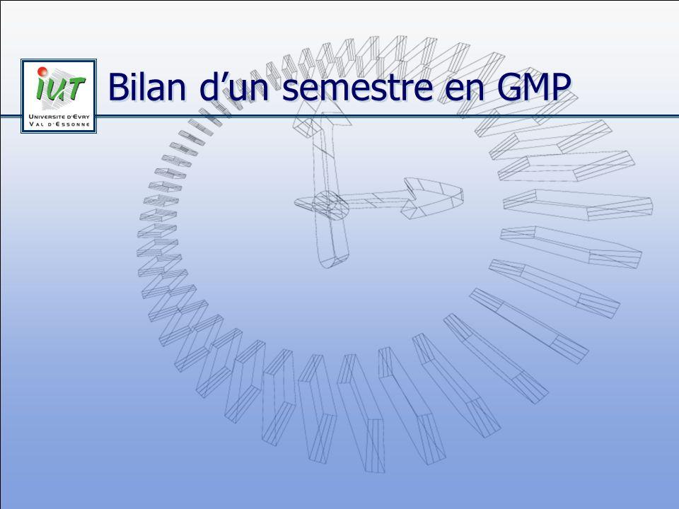 Bilan d'un semestre en GMP