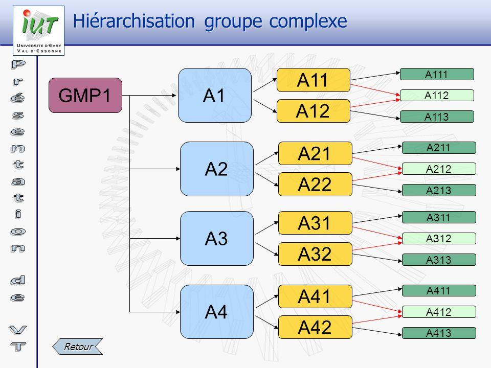 Hiérarchisation groupe complexe