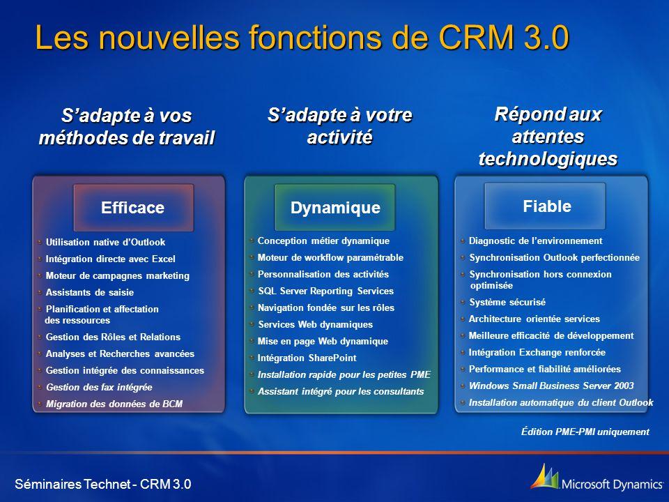 Les nouvelles fonctions de CRM 3.0