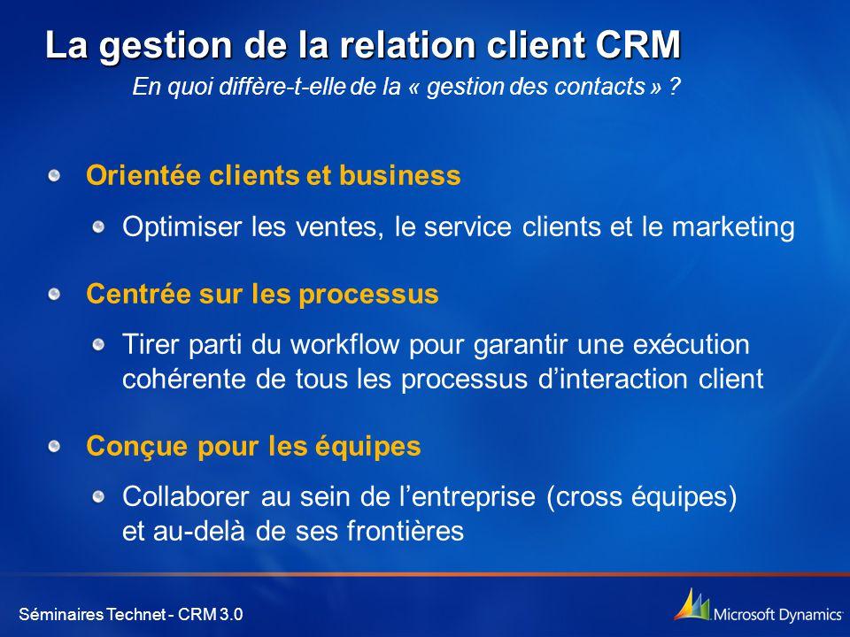 La gestion de la relation client CRM