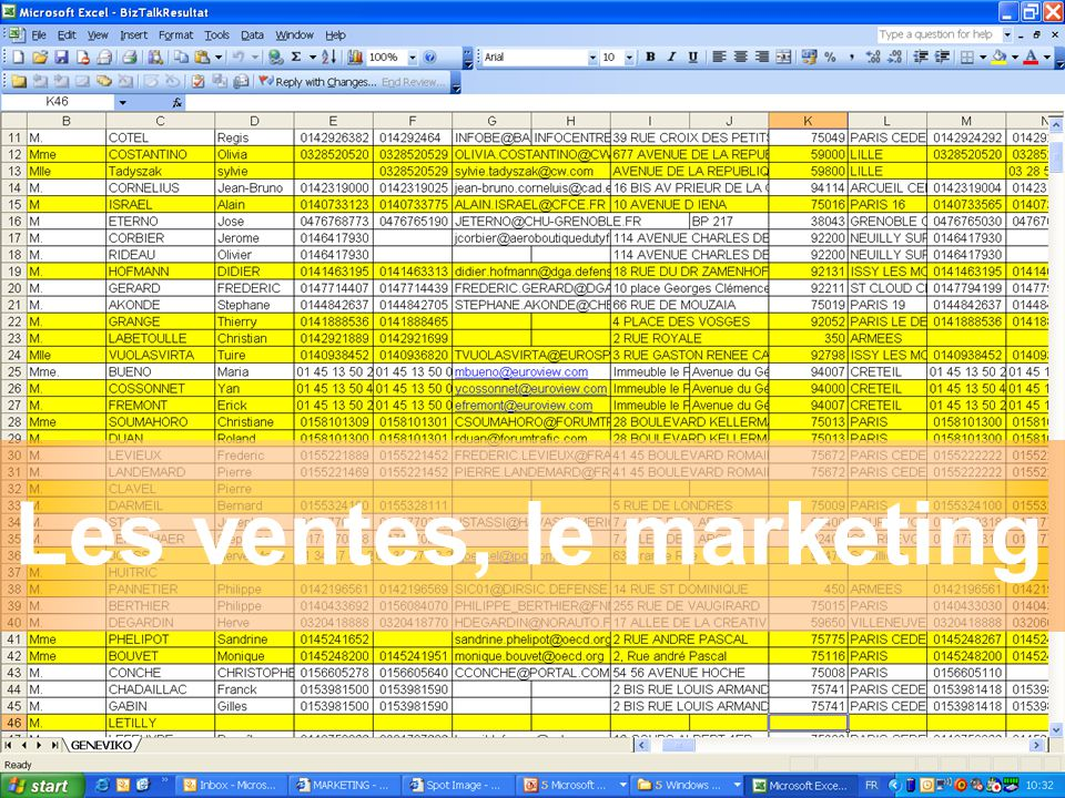 Les ventes, le marketing