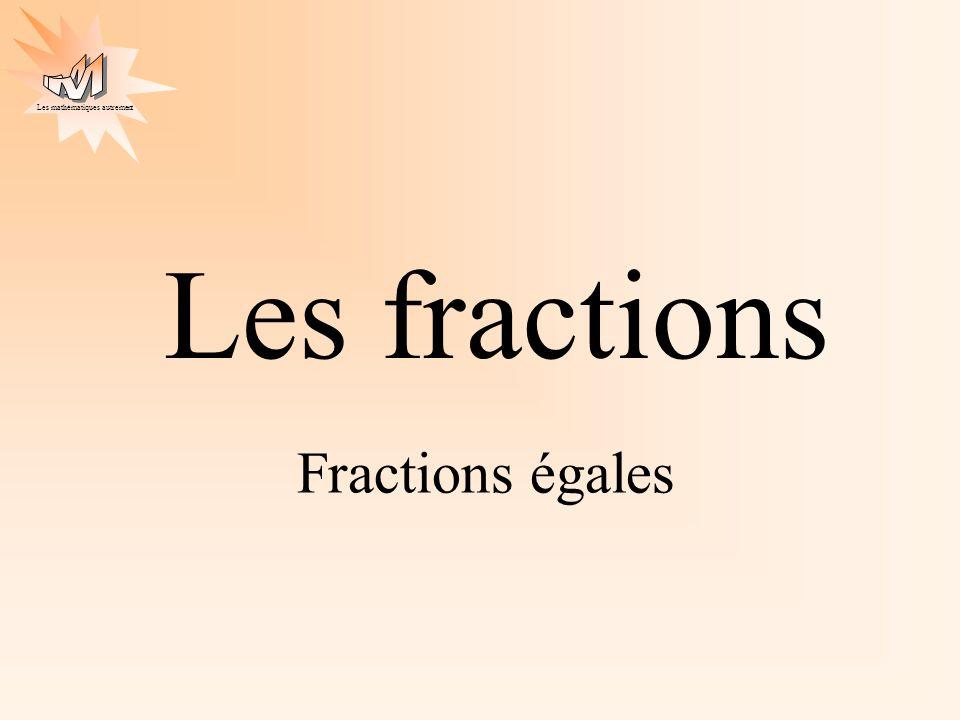 Les fractions Fractions égales
