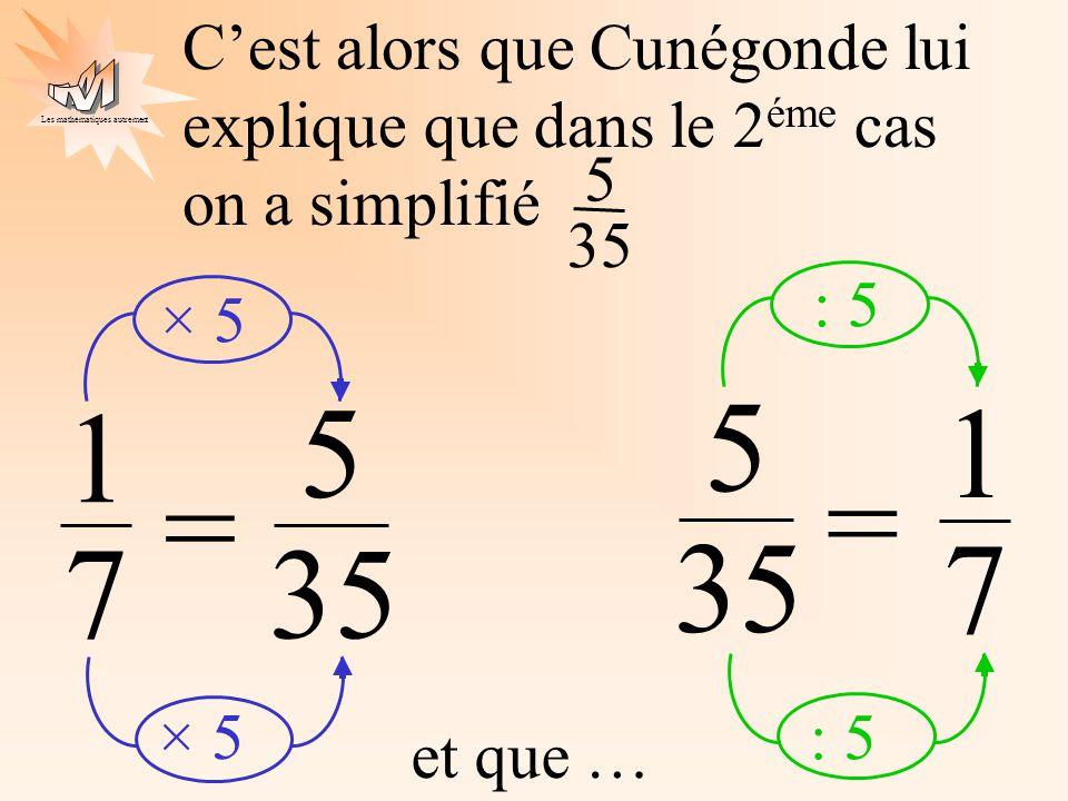 C'est alors que Cunégonde lui explique que dans le 2éme cas on a simplifié