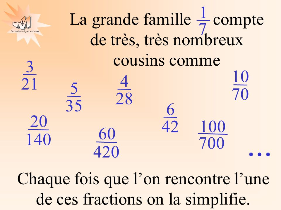 ... 1 La grande famille compte de très, très nombreux cousins comme 7