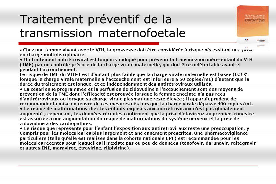 Traitement préventif de la transmission maternofoetale