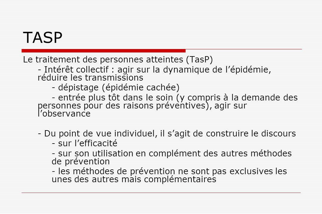 TASP Le traitement des personnes atteintes (TasP)