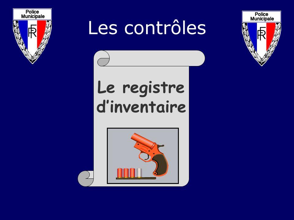 Les contrôles Le registre d'inventaire