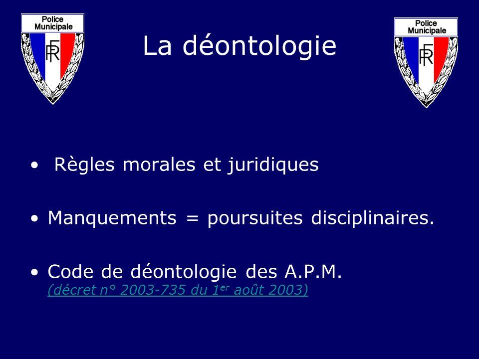 La déontologie Règles morales et juridiques