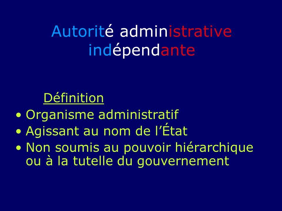 Autorité administrative indépendante
