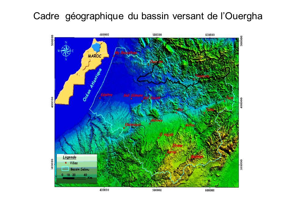 Cadre géographique du bassin versant de l'Ouergha