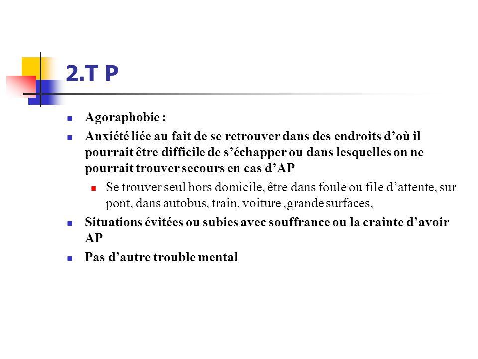 2.T P Agoraphobie :
