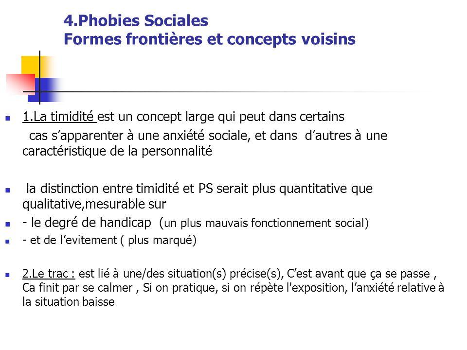 4.Phobies Sociales Formes frontières et concepts voisins