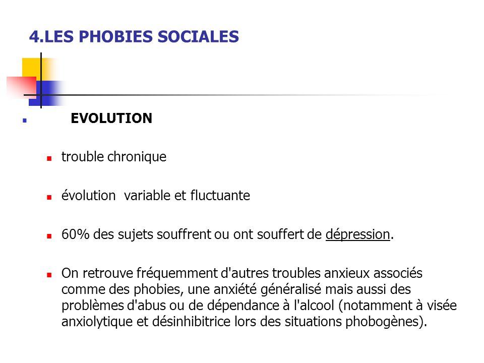 4.LES PHOBIES SOCIALES trouble chronique