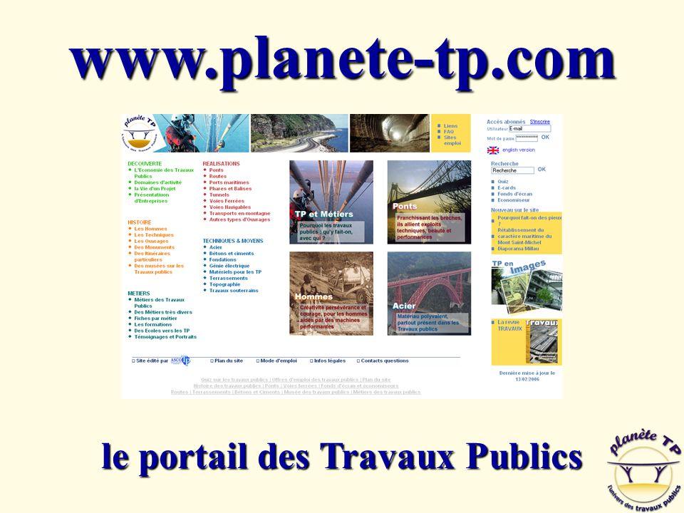le portail des Travaux Publics