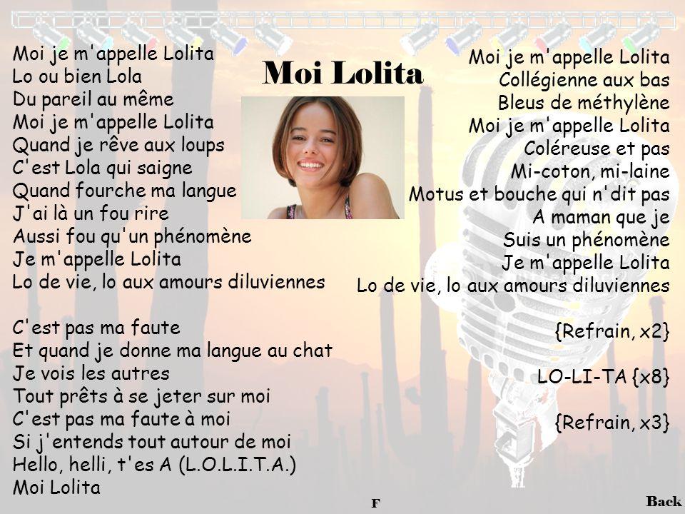 Moi Lolita Moi je m appelle Lolita Moi je m appelle Lolita