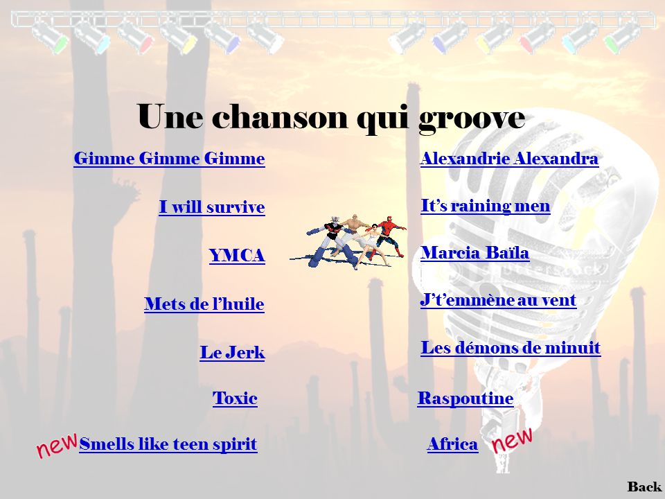 Une chanson qui groove Gimme Gimme Gimme Alexandrie Alexandra
