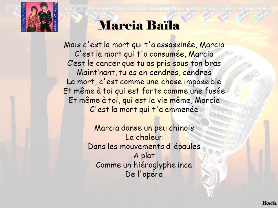 Marcia Baïla Mais c est la mort qui t a assassinée, Marcia