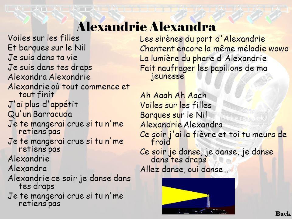 Alexandrie Alexandra Voiles sur les filles