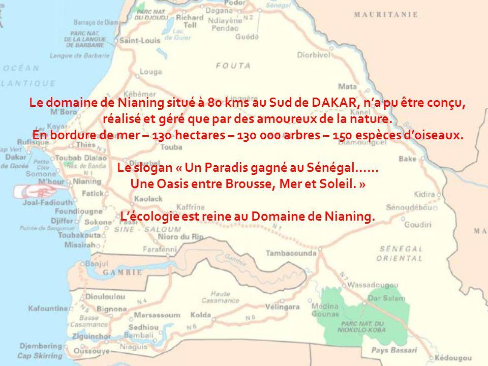 Le slogan « Un Paradis gagné au Sénégal……