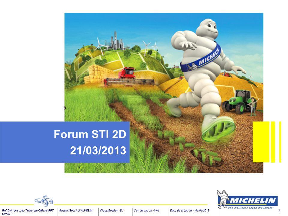 Forum STI 2D 21/03/2013