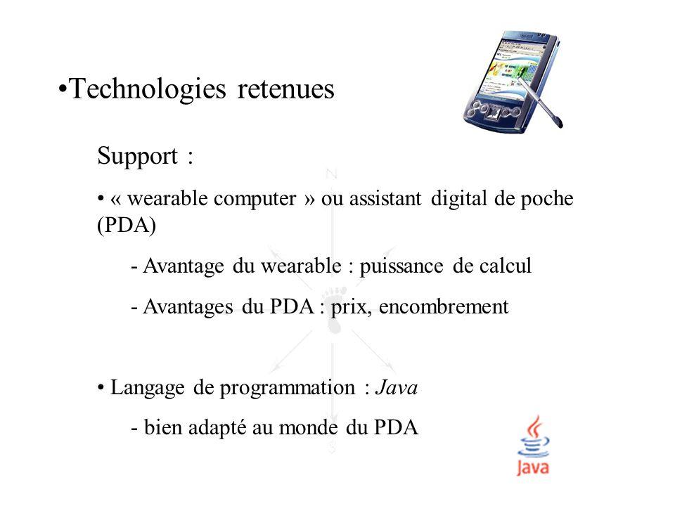 Technologies retenues