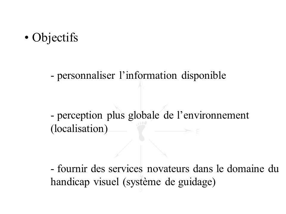 Objectifs personnaliser l'information disponible