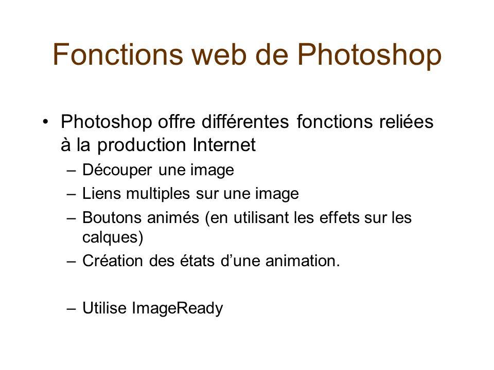 Fonctions web de Photoshop