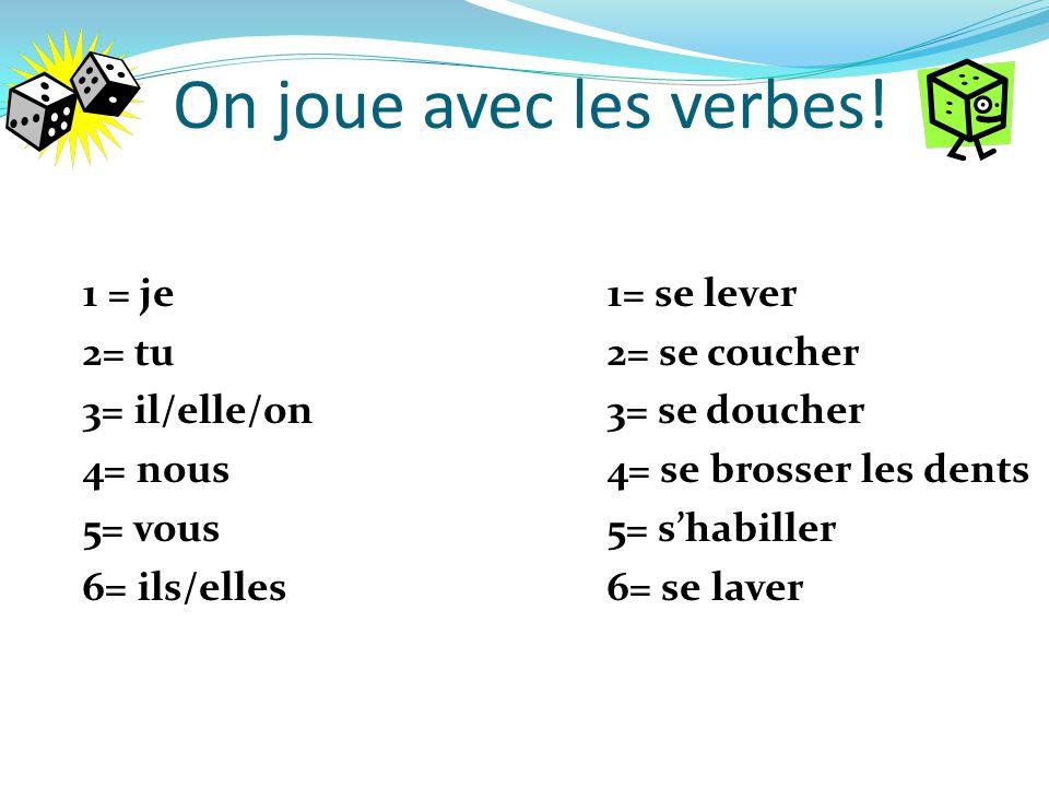 On joue avec les verbes!