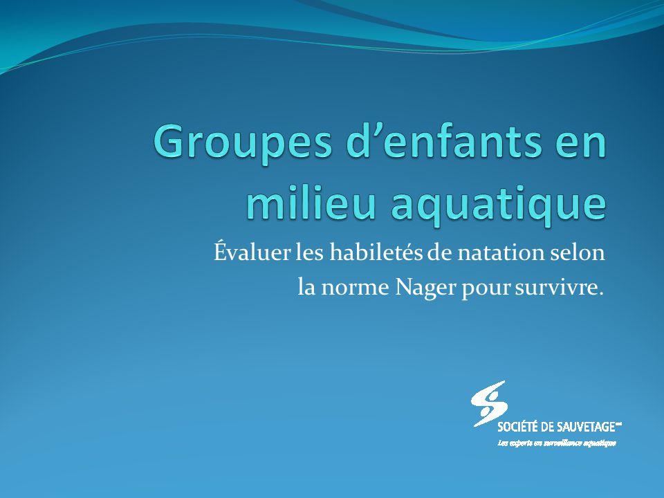 Groupes d'enfants en milieu aquatique