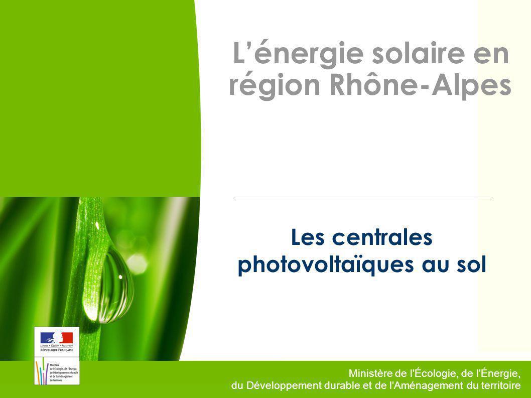 Les centrales photovoltaïques au sol