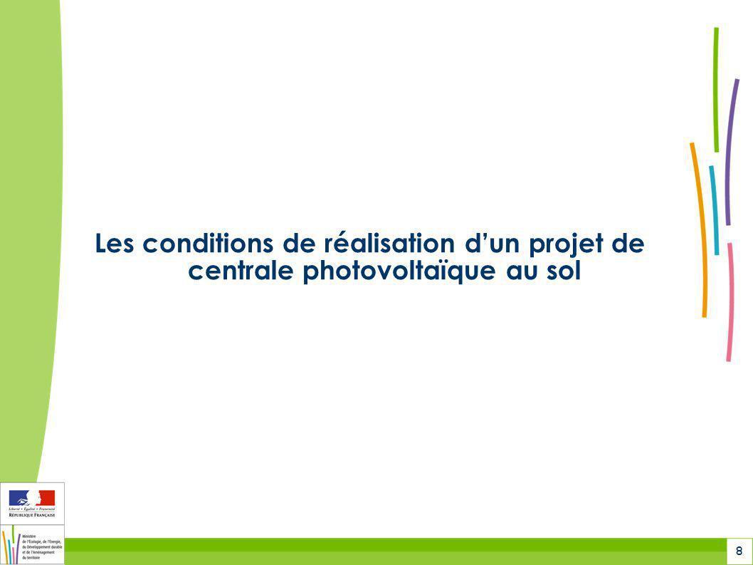 Les conditions de réalisation d'un projet de centrale photovoltaïque au sol