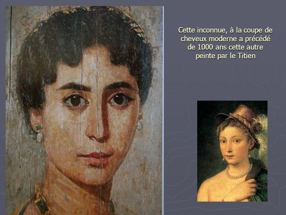 Cette inconnue, à la coupe de cheveux moderne a précédé de 1000 ans cette autre peinte par le Titien
