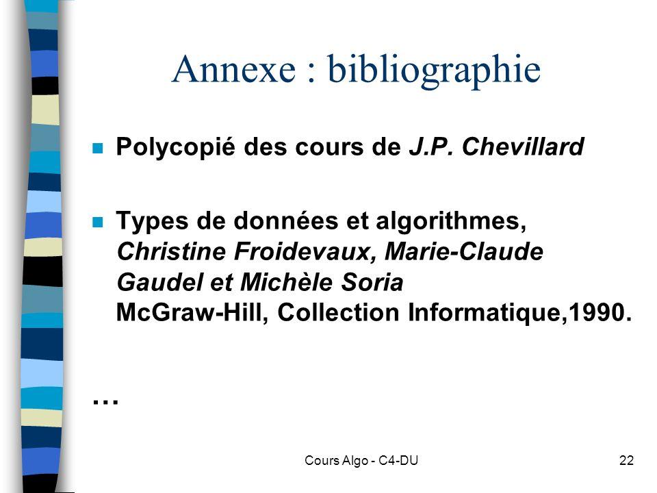 Annexe : bibliographie