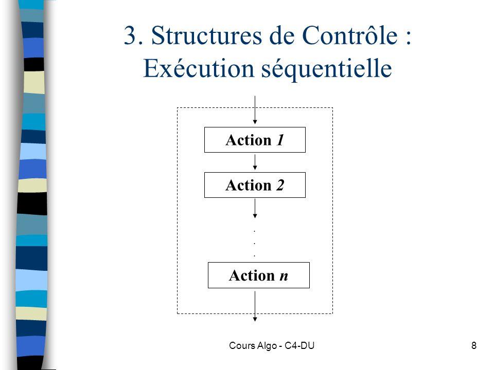 3. Structures de Contrôle : Exécution séquentielle