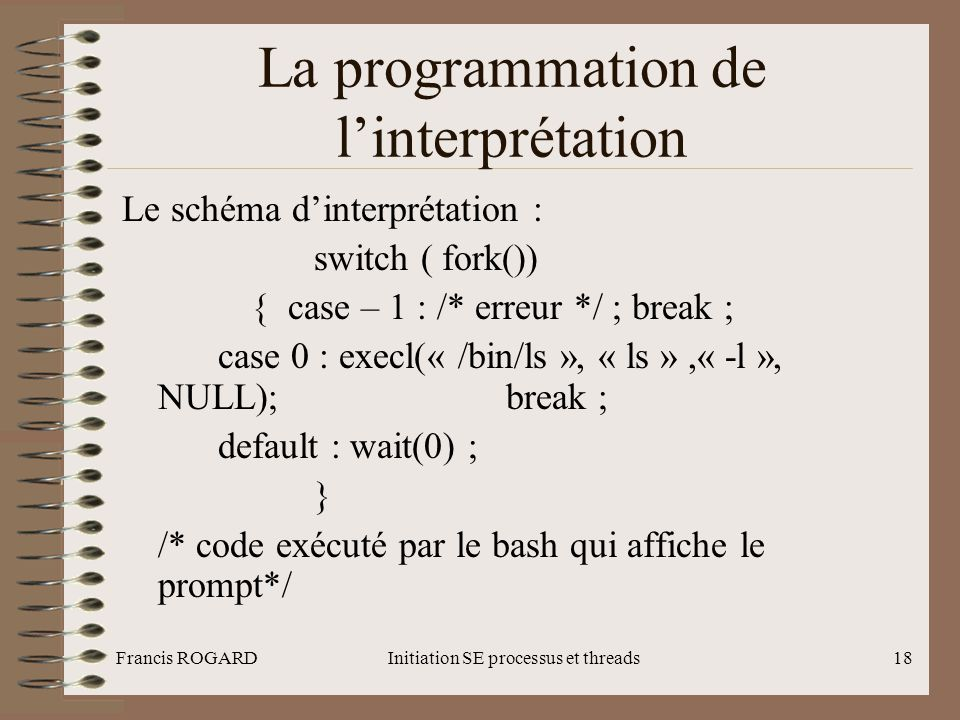 La programmation de l'interprétation