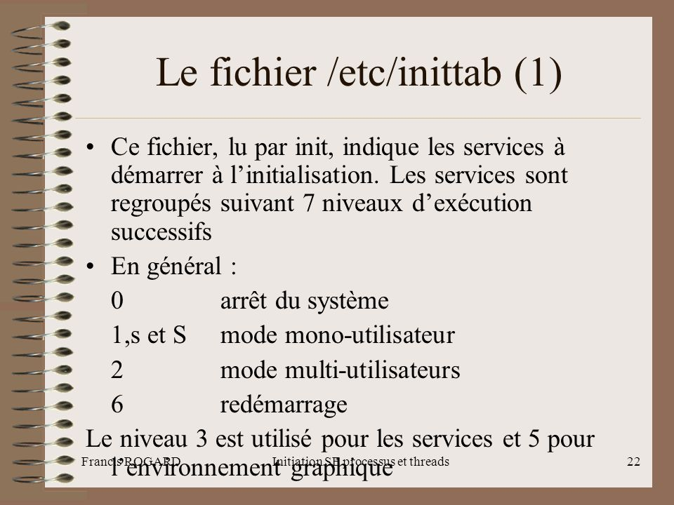 Le fichier /etc/inittab (1)