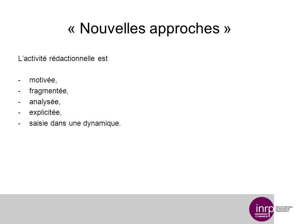 « Nouvelles approches »