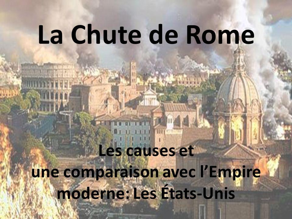 Les causes et une comparaison avec l'Empire moderne: Les États-Unis