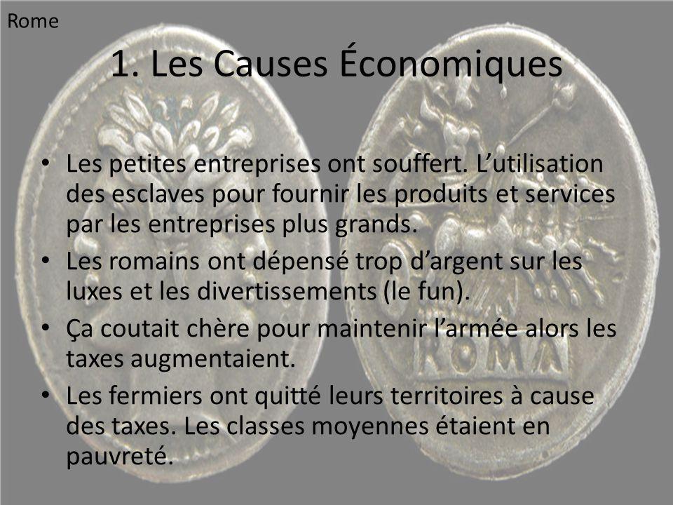1. Les Causes Économiques