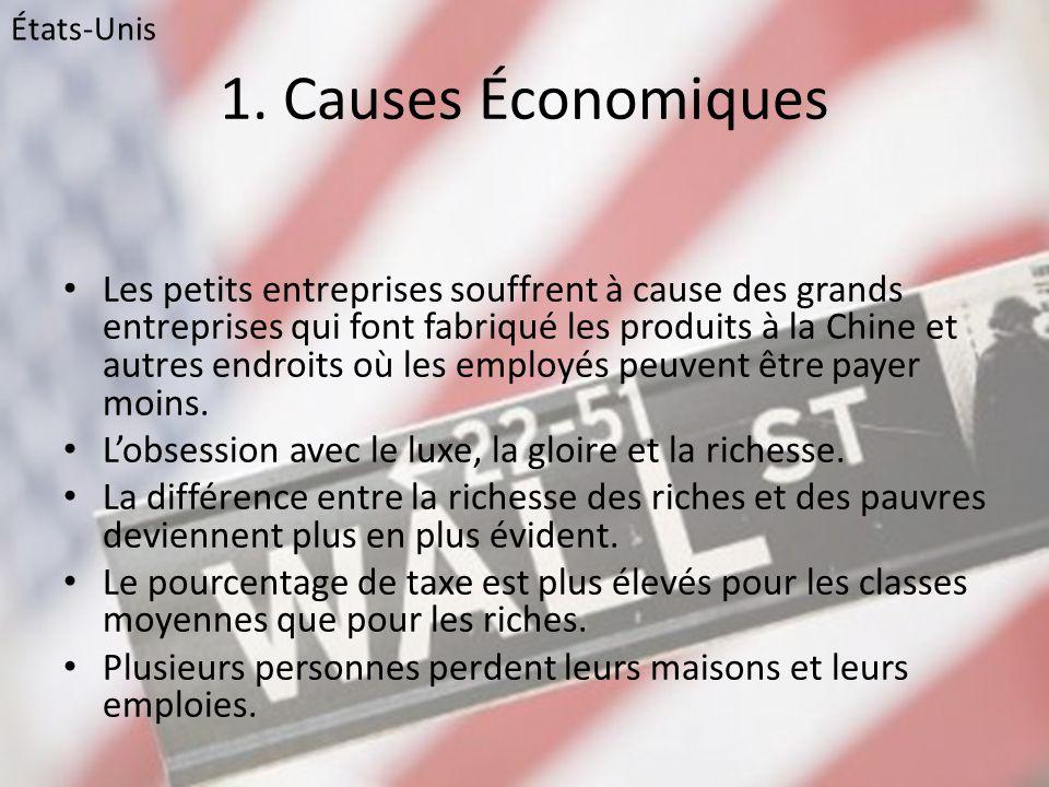 États-Unis 1. Causes Économiques.