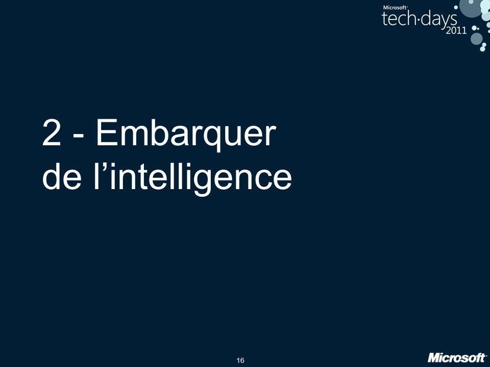 2 - Embarquer de l'intelligence