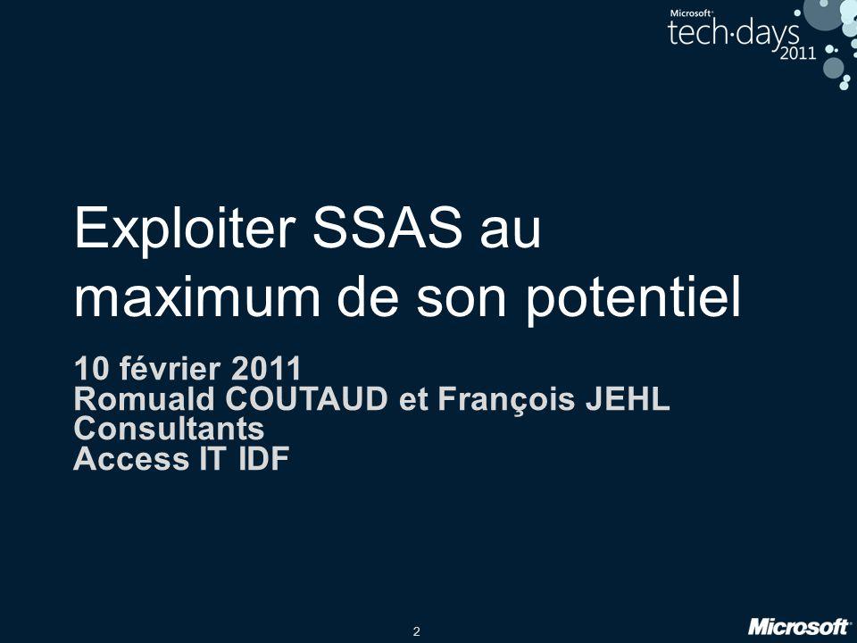 Exploiter SSAS au maximum de son potentiel