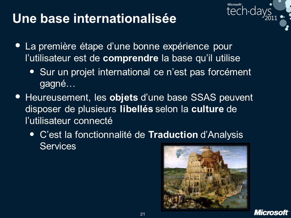 Une base internationalisée