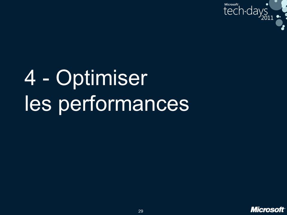 4 - Optimiser les performances