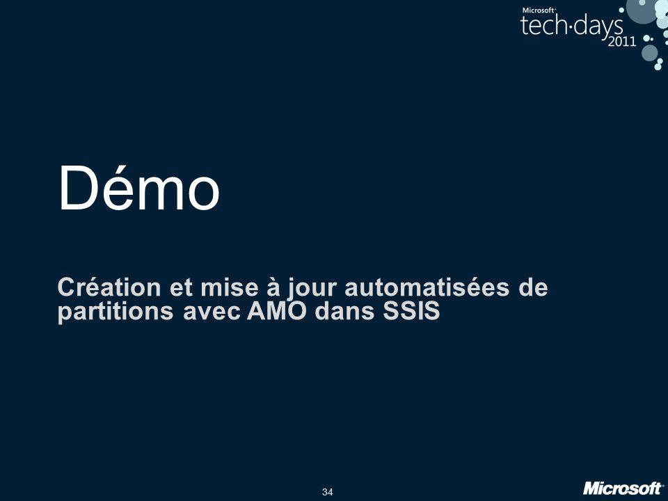 Création et mise à jour automatisées de partitions avec AMO dans SSIS