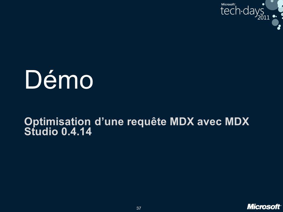 Optimisation d'une requête MDX avec MDX Studio 0.4.14