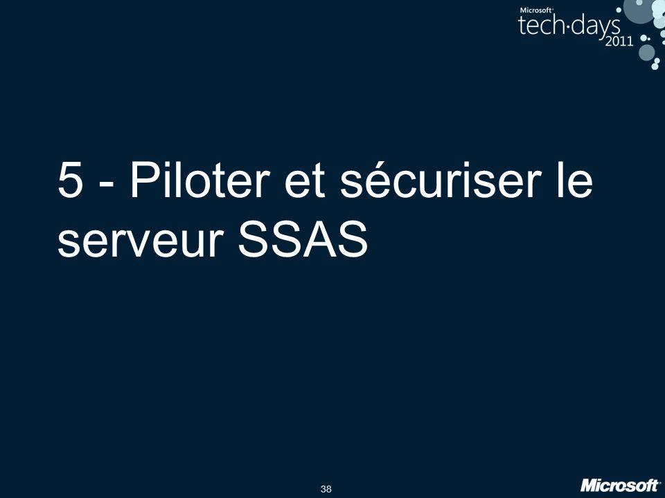 5 - Piloter et sécuriser le serveur SSAS